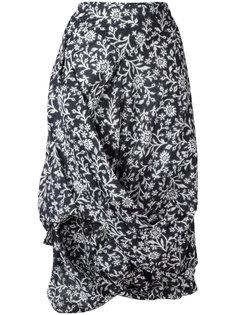 юбка с цветочным узором и драпировкой Vivienne Westwood Anglomania