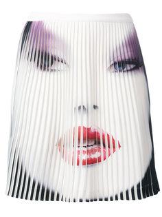 плиссированная юбка с принтом Jeremy Scott