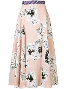 блузка с цветочным принтом Roksanda