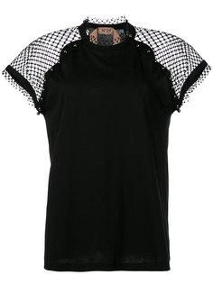 блузка с сетчатой панелью Nº21