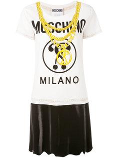футболка с цепочным принтом Moschino