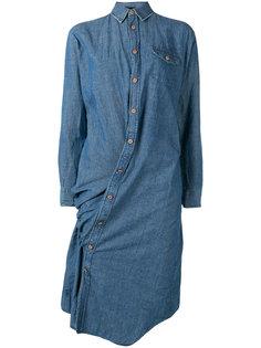платье-рубашка со смещенной застежкой Junya Watanabe Comme Des Garçons