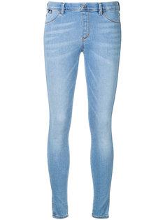 джинсы скинни с вышитым сердечком Love Moschino
