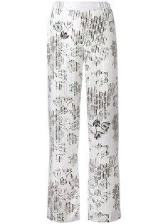 широкие брюки с цветочным узором Salvatore Ferragamo