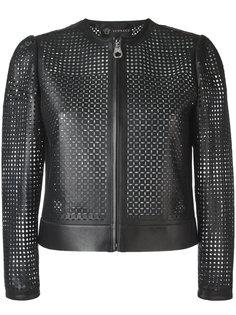 куртка с перфорацией Versace