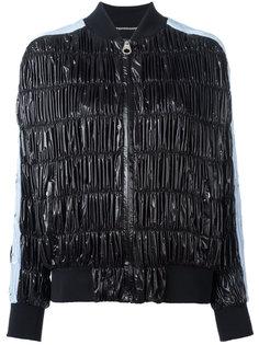 куртка бомбер со сборками Versace