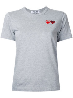 футболка с двумя сердечками Comme Des Garçons Play