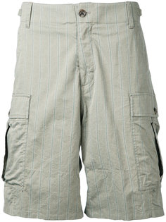 шорты карго с полосатым принтом Undercover