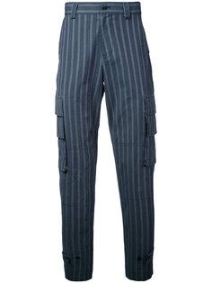 полосатые брюки с накладными карманами Undercover