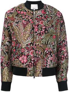 укороченная куртка-бомбер с цветочной отделкой  3.1 Phillip Lim