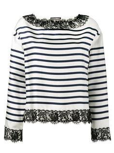 полосатая блузка с кружевной отделкой Dolce & Gabbana