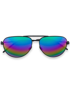 """радужные солнцезащитные очки """"авиаторы""""  Saint Laurent Eyewear"""