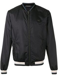 куртка-бомбер  с полосатой окантовкой Dolce & Gabbana