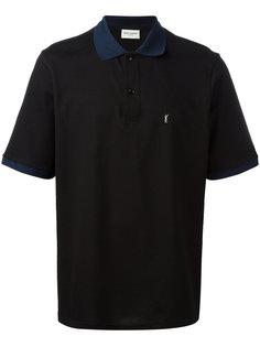 рубашка-поло с контрастным воротником Saint Laurent