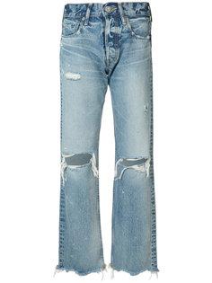 джинсы с завышенной талией Moussy