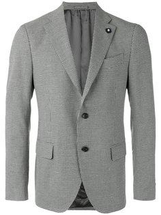 пиджак с узором в ломаную клетку Lardini