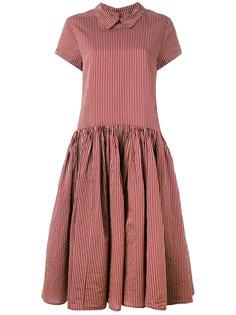 расклешенное платье в полоску  Rundholz