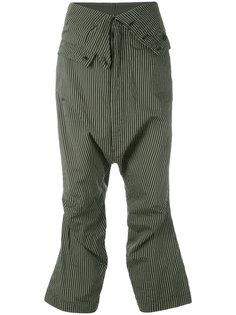 укороченные брюки в полоску  Rundholz