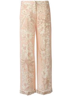брюки с вышивкой Valentino