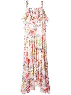 длинное платье с цветочным принтом Philosophy Di Lorenzo Serafini