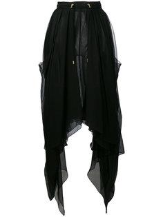 асимметричная прозрачная юбка Balmain