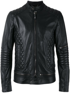 байкерская куртка со стегаными вставками Philipp Plein