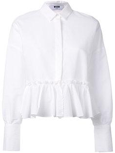 блузка с баской  MSGM