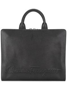 портфель с тиснением логотипа Salvatore Ferragamo