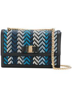 сумка на плечо с плетеной панелью Salvatore Ferragamo
