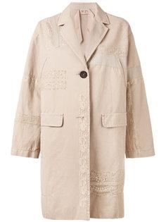 пальто с кружевной отделкой Nº21