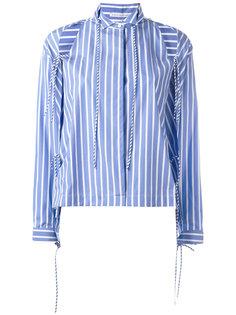 рубашка в полоску с вырезными деталями на плечах Ermanno Scervino