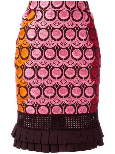 юбка с вышивкой  Capucci