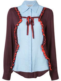 рубашка с рюшами с панельным дизайном Preen Line