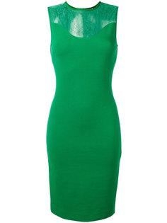 платье с прозрачной панелью Roberto Cavalli