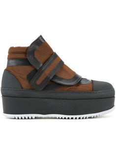 ботинки на липучках и плоской платформе  Marni