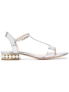 сандалии Casati Pearl с T-образной планкой Nicholas Kirkwood