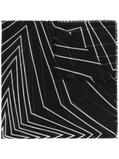 платок с графическими линиями Saint Laurent