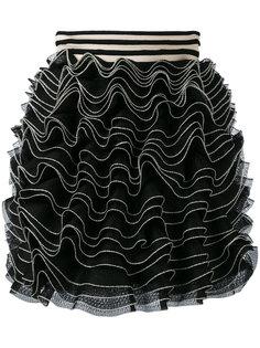 трикотажная юбка мини с оборками Alexander McQueen