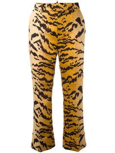 классические брюки с тигровым принтом Dsquared2
