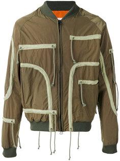 куртка бомбер с контрастной окантовкой As65