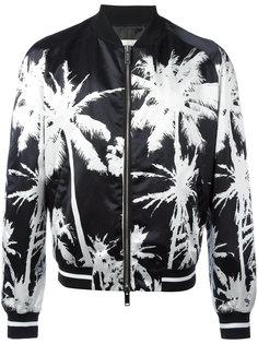 куртка-бомбер с пальмовым принтом Golden Goose Deluxe Brand