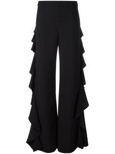 брюки с оборками по бокам Sara Battaglia