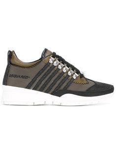 кроссовки с панельным дизайном Dsquared2
