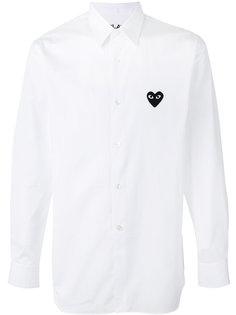 рубашка с заплаткой в форме сердца Comme Des Garçons Play