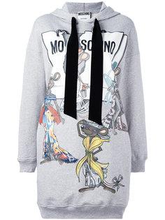 платье с капюшоном Rat-A-Porter Moschino