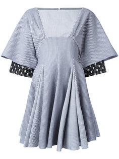 расклешенное платье мини в полоску JW Anderson