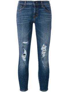 джинсы скинни с рваными деталями J Brand