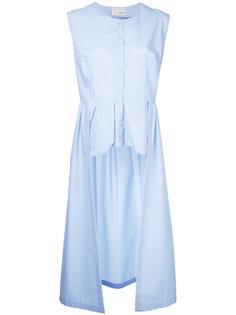 асимметричная блузка без рукавов  Elaidi