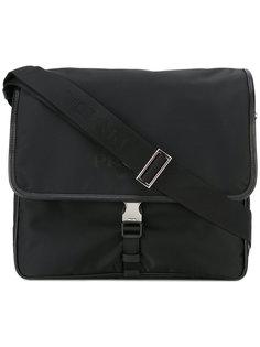 сумка-сэтчел с принтом-логотипом Prada