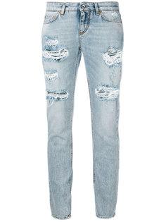 укороченные джинсы с рваными деталями Dolce & Gabbana
